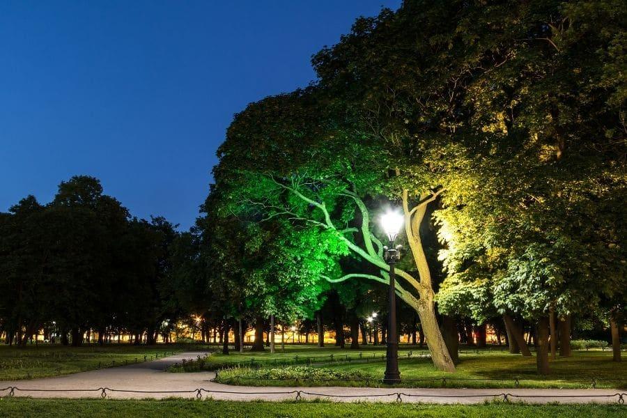external lighting source