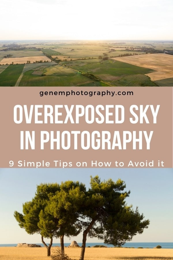 how to avoid overexposed sky