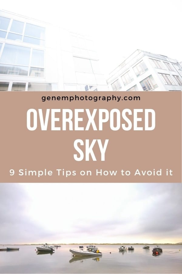 overexposed sky photography