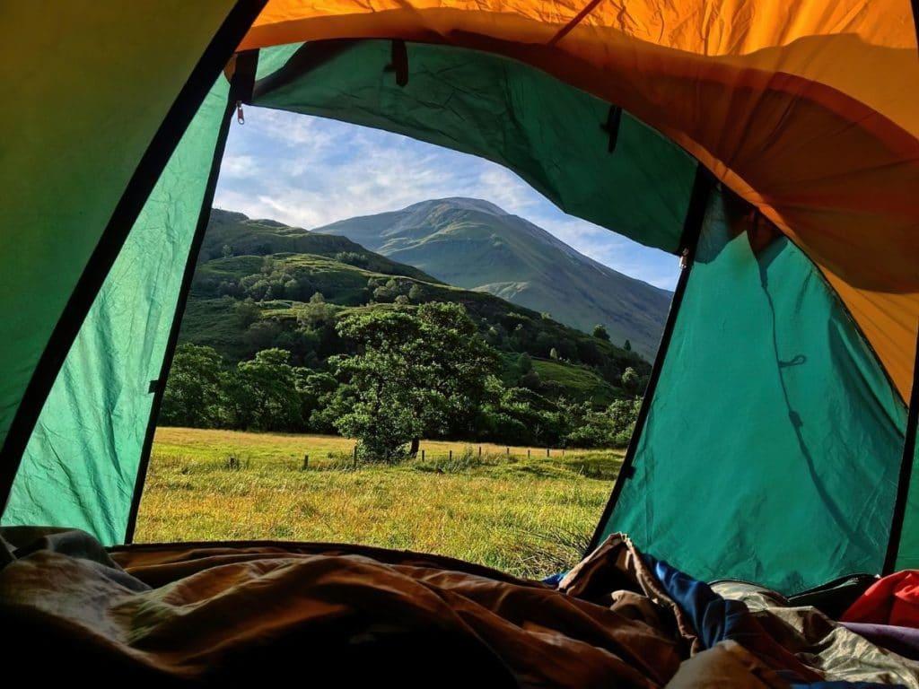 tent landscape framing