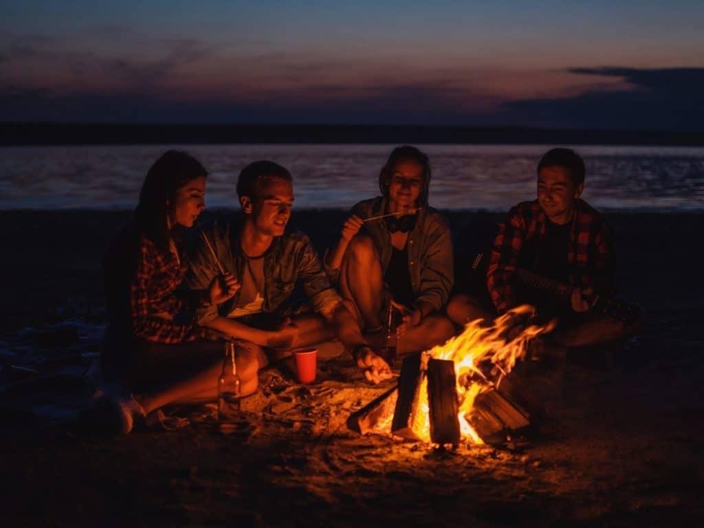 bonfire summer photography