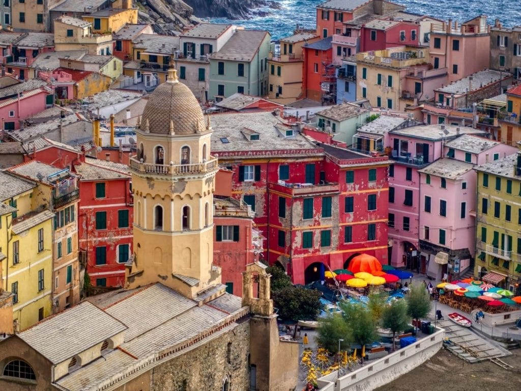 colorful cinque terre buildings